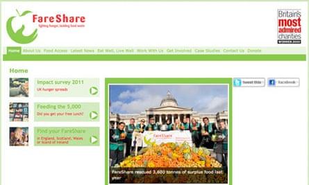 FareShare charity screengrab