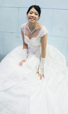 Tracy Pan in her wedding dress