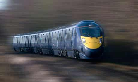 OK commuter? A train rushing through the countryside