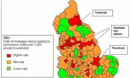 Repossession hotspots revealed