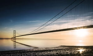The Humber bridge in east Yorkshire