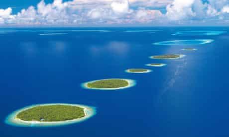 The Baa atoll in the Maldives