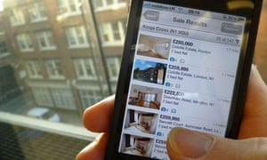 A smartphone showing the Rightmove app
