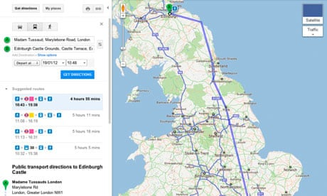 google maps adds uk rail travel platform technology the guardian