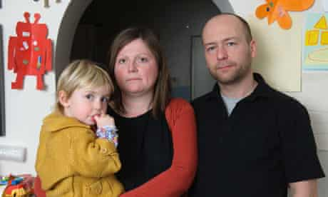 Tony Scudder and Karen Whalley with their daughter Lois Scudder at home in Rochester, Kent.