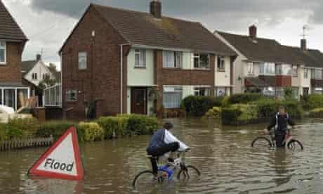 Flooding in Tewkesbury, Gloucestershire