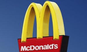 A McDonald's sign