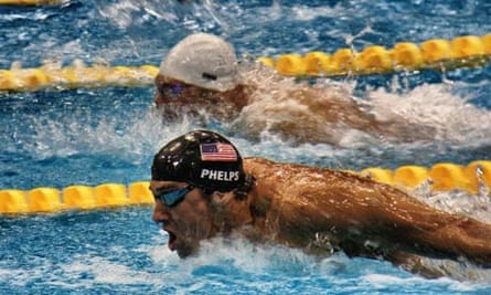 Michael Phelps swims at the London Olympics 2012