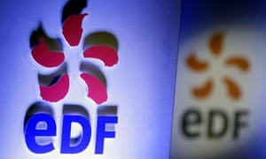 Logos of French electricity firm EDF