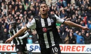 Hatem Ben Arfa celebrates scoring for Newcastle United
