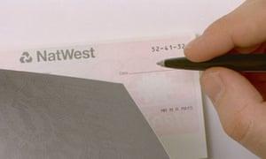 A N atWest cheque book