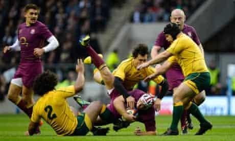 England v Australia rugy union international 17/11/12
