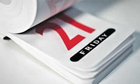 A diary showing Friday 21st