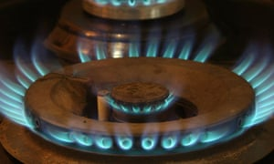 A gas flame