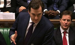 Chancellor George Osborne delivers the autumn statement 2012