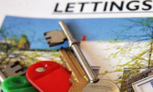 House keys on a lettings agent brochure