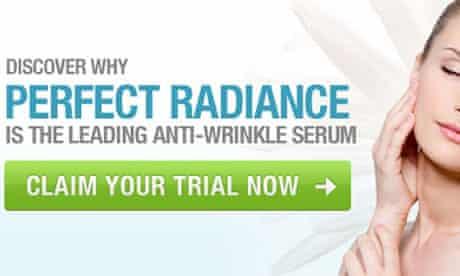 A perfect radiance skin cream advert