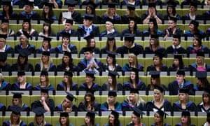 Graduation ceremony in Lancashire, England