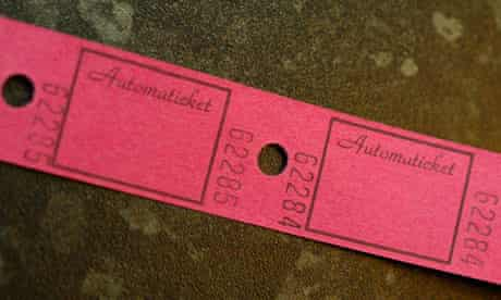 Old-style cinema tickets