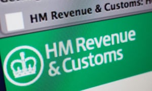 A computer screen showing the HMRC website