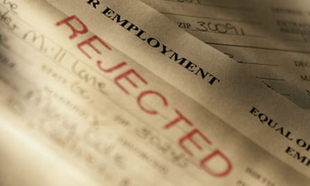 A rejected job application