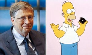 Bill Gates and Homer Simpson composite