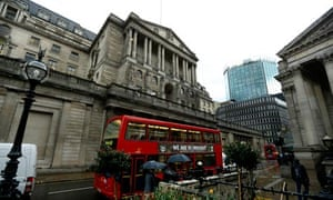 Bank of England and a bus with a drought advert