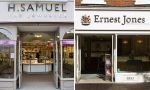 71827c146c2e1 Store Wars: H Samuel and Ernest Jones | Money | The Guardian