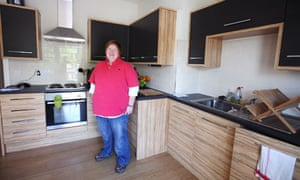 Audrey Dixon in her Ruislip flat share at 40 years old
