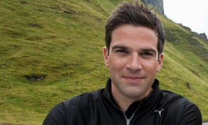 Gethin Jones, TV presenter, on location for the show Peak District