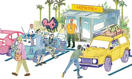 Car hire illustration