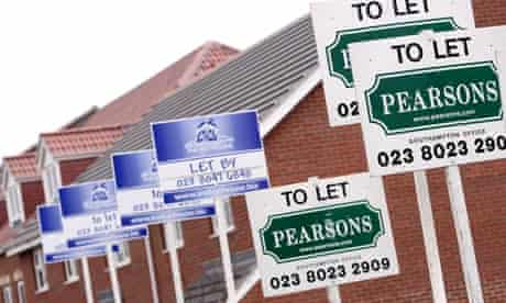A parade of to let signs outside a new housing estate