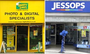 Shop fronts of Snappy Snaps and Jessops