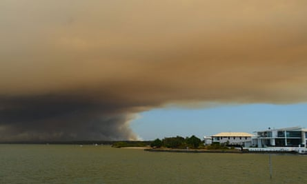 Smoke over queensland coast