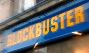 A Blockbuster rental shop