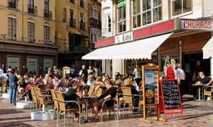 Place de la Constitucion square, Malaga, Spain