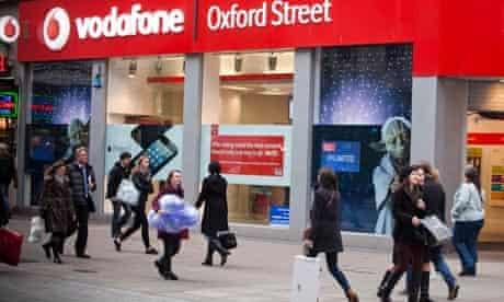 Vodafone mobile phone shop