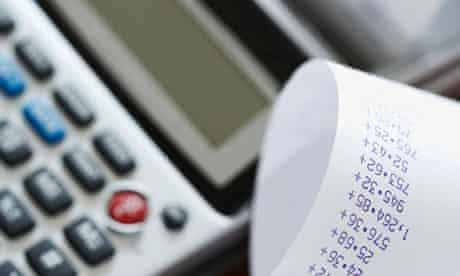 A calculator and receipt