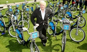 Boris Johnson at the launch of the London Cycle Hire scheme