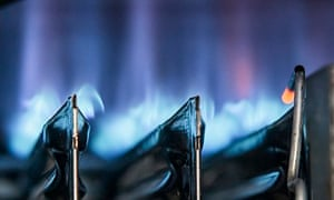 Gas Boiler Flame Close-up