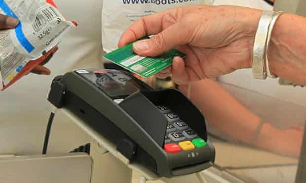 Using a contactless credit card