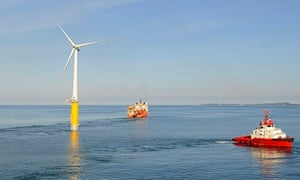 Hywind floating turbine