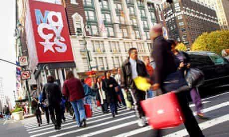 Christmas shopping season in New York City