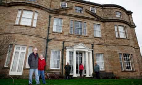 Mike and Pauline Binns outside Thundercliffe Grange
