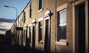 Terraced houses in Rochdale with a To Let sign