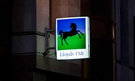 Illuminated Lloyds TSB sign