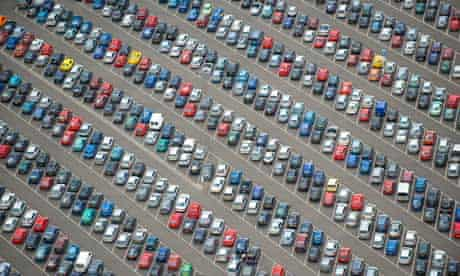 A car park taken from above