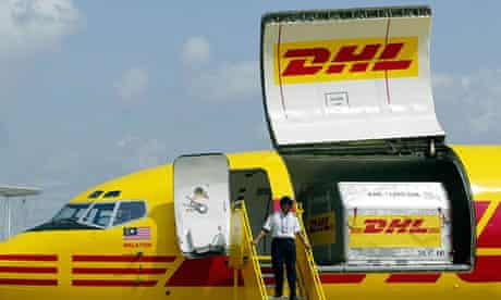 A plane with DHL logo