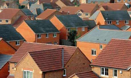 Housing estate in south Derbyshire
