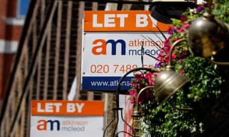 Estate agent letting signs